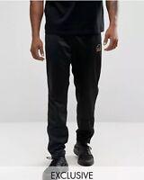 Ellesse Men's Track Pants Joggers Illario Black Gold Logo