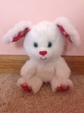 Build-A-Bear Smallfrys Peppermint Pup Puppy Winter Christmas Holiday White Red