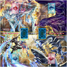 Yugioh 2 Player Two Player Playmat Custom Made Play Mat #004