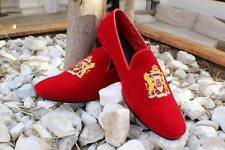 MEN  VELVET RED LOAFERS SIZES 10