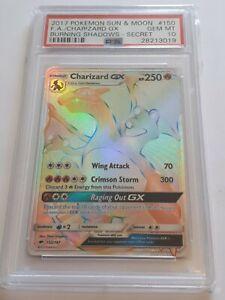Pokemon Charizard GX Rainbow secret rare PSA 10 S&M Burning Shadows 150/147