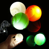 Dog Puppy Toys Glowing Ball Silicone USB Charging Light Bite Balls for Pet