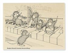 MUSICAL MICE Rubber Stamp HMR24 Stampendous! Brand NEW! House Mouse piano drum