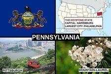 SOUVENIR FRIDGE MAGNET of THE STATE OF PENNSYLVANIA USA