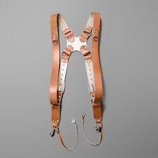 Dual Multi Camera Leather Harness Shoulder Strap Handmade