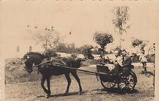 * ETIOPIA - Gimma - Carro con cavallo 1940 Fotocartolina AOI