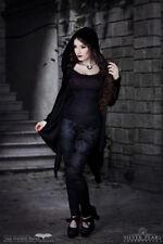 Necessary Evil Artemis Black Velvet Gothic Drape Hoodie