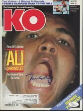 MUHAMMAD ALI signed 1991 KO Knockout Magazine - JSA certified AUTOGRAPH LOA!