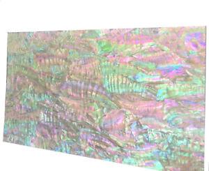 1x Abalone Shell Veneer Sheet PAUA Slice Inlay 240x140x0.2mm Luthier DIY B01
