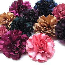 "Upick 8pcs Large Ribbon Flowers Bows Craft Appliques Wedding 2 5/8"""""