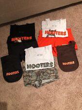 HALLOWEEN COSTUME SET, HOOTERS UNIFORM XXS, XS, S (shirt, shorts)