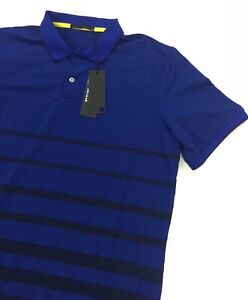 NEW Greyson Winona Golf Short Sleeve Polo Shirt Blue Yellow Mens Size M NWT