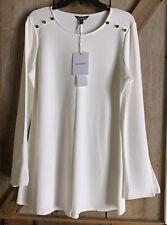 NWT Isabella Oliver Maternity Fallon Tunic Long Sleeve sz 3 Soft White Stretch
