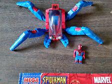 VERY RARE 2004 SPIDERMAN 2-GO HEAD MEGA BLOKS 1906 MARVEL