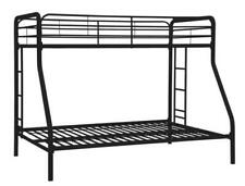 Dhp Twin Over Full Bunk Bed with Metal Frame and Ladder - Black
