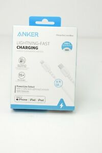 Anker 6' Powerline Select USB-C to Lightning Cable - White
