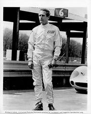 Paul Newman original 8x10 photo full length in racing outfit Winning snipe verso