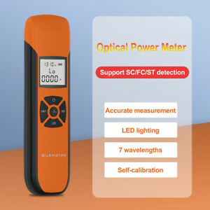 Lightweight Precision Optical Power Meter Rechargeable 7 Wavelengthes Backlight