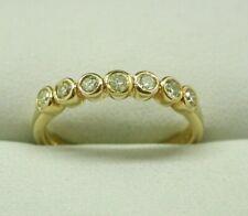 Lovely 18 Carat Gold 0.40 carat Seven Stone Diamond Eternity Ring Size O.1/2