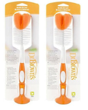 Dr Brown's Natural Flow Bottle Brush, Orange (2 Pack)