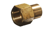 "LPG BBQ BRASS ADAPTER  FEMALE POL x 1/4 "" NPT FEMALE  CG-08"