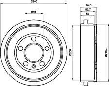 Mintex Rear Brake Drum MBD247  - BRAND NEW - GENUINE - 5 YEAR WARRANTY