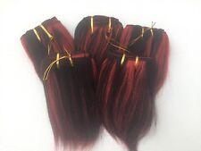 "Lotes de 5 paquetes de extensiones de cabello humano P1B/Red 5"" 100g Aprox 100"" -120"" de ancho"