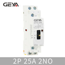 GYHC 2P 25A 2NO 220V Manual Control Household Contactor Din Rail Type