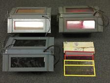 Three Thomas Super Safelights - darkroom lights, 6 extra Filters & Instructions
