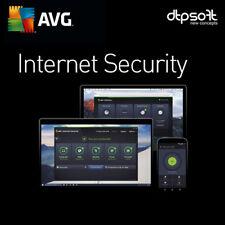 AVG Internet Security 1, 3, 5, 10 Unlimited Appareils 2019 2 ans Antivirus BE EU