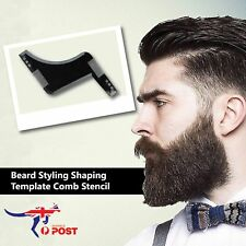 Beard Styling Shaping Template Comb Tool Symmetry Trimming Shaper Stencil