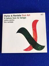 NEUF Perko & Rantala Duo Art It Takes Two Pour Tango CD Promo Copy Jazz ACT 2015