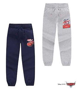 Disney Cars Boys Sports Pants Joggers Blue Grey 98 104 110 116 128 #250