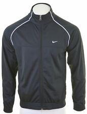NIKE Mens Tracksuit Top Jacket Medium Black Polyester  LZ04