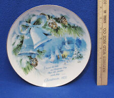 1978 Christmas Plate American Greetings Collectors Winter Bells Longfellow Quote