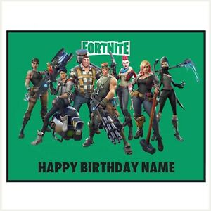 Fortnite Edible Image personalised icing cake topper party decoration video game