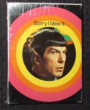 1976 STAR TREK Birthday Greeting Cards w/ Envelopes SEALED Lot of 5 Spock Sorry