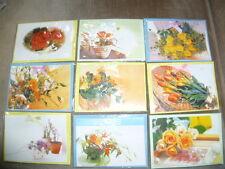 Glückwunsch - Karten 9 Motive  mit Umschlag ca.12 x 6,5 cm / 9 Stück )( B / 11 )