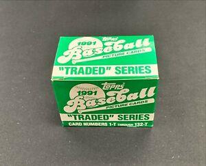 1991 Topps Traded Baseball MLB Complete Set 1-132