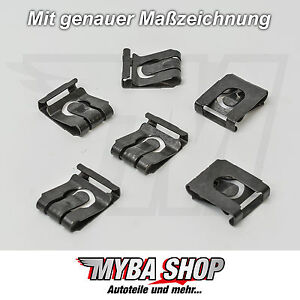 5x Metal Mount Clamps Clamping Opel Renault Saab 20,3 x 16,3 # New #