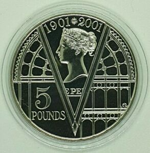 Royal Mint - 2001 Queen Victoria - £5 coin - Five Pound in Capsule