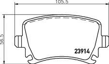 Hella Pagid Rear Brake Pads T1377 fits VW GOLF MK V 1K1 2.0 TDI 16V 2.0 GTI