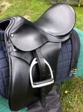 Dressage saddle Black Quality leather fully mounted