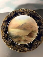 """Antique Aynsley Hand Painted 9� Pedestal Comport Dish """"Loch Lyndon� 3338"""