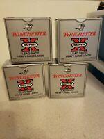 4 Vtg Winchester Super X Silver 12 Gauge Shotgun Shell Empty Boxes  *EXCELLENT*