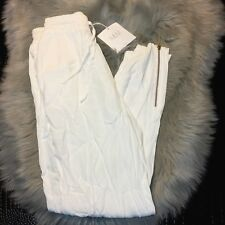 NWT MLM Mlm Label Ivory White Drop Crotch Pants In Size XS Zip Details CUTE!