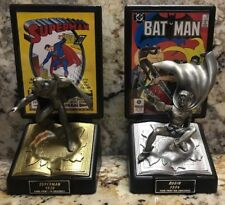 Lot of 2 Marvel Comics Comic Book Champions Pewter Series Superman And Robin