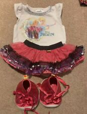 Build A Bear Pink Top and Net Skirt Outfit With Shoes