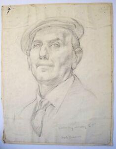 Elspeth Buchanan (1915-2011) Male portrait. Edinburgh College of Art