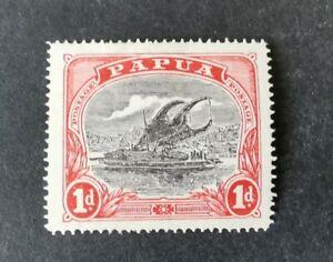 Papua 1916-31 1d black/red Mint Hinged AFj1
